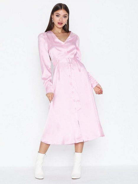 Glamorous Belted Long Sleeve Dress Festklänningar