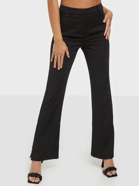 Glamorous High Waisted Slit Trousers Bukser