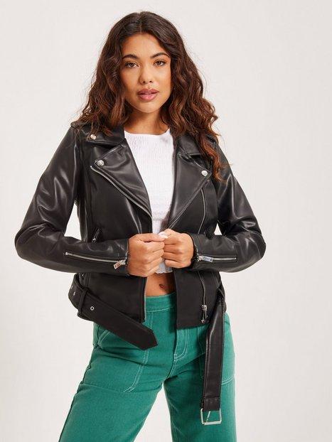 Glamorous PU Leather Biker Jacket Læderjakker