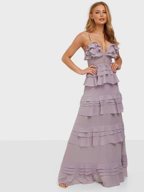 True Decadence Linen Maxi Dress Maxikjoler Lilac