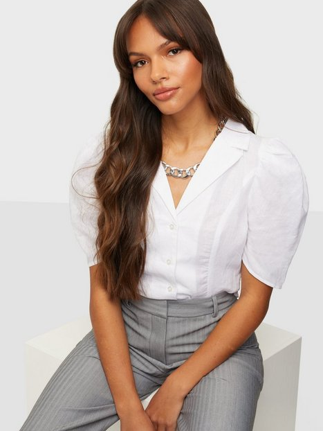 Glamorous Puff Sleeve Collar Blouse Crop tops