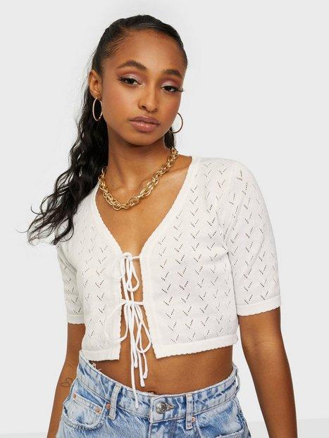 Glamorous Knitted Tie Crop Top Crop tops