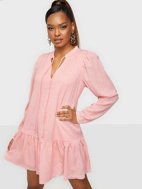Glamorous Long Sleeve Loose Mini Dress Loose fit dresses Light Pink