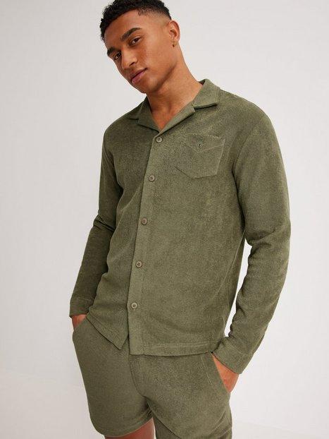 OAS Terry Shirt Camisa Skjorter Khaki