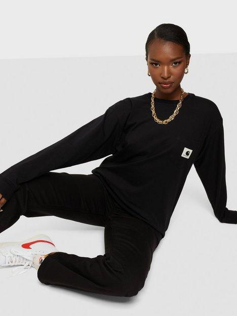 Carhartt WIP W' L/S Pocket T-Shirt Langærmede T-shirts Black