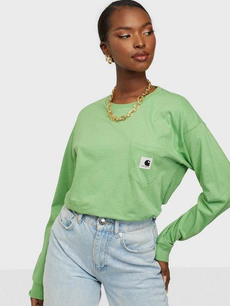 Carhartt WIP W' L/S Pocket T-Shirt Langærmede T-shirts Green
