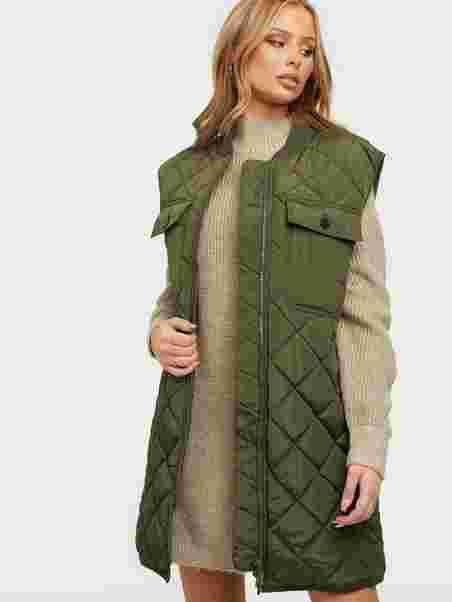 Köp Co'couture Anaya Quilt Vest Army   Jackor