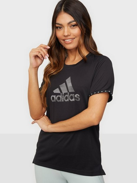 Adidas Sport Performance Bos Necessi-Tee Toppar Kortärmade Black/White