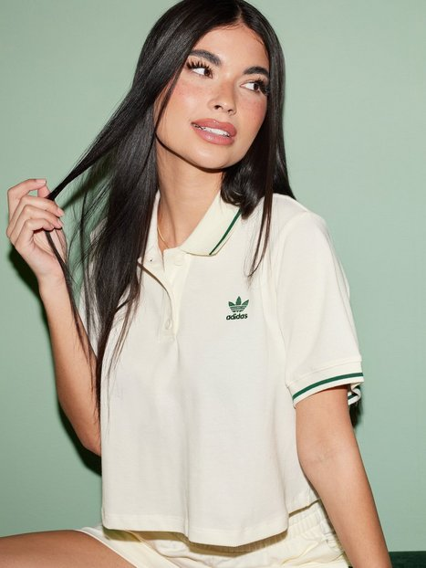 Adidas Originals Polo Crop tops Offwhite