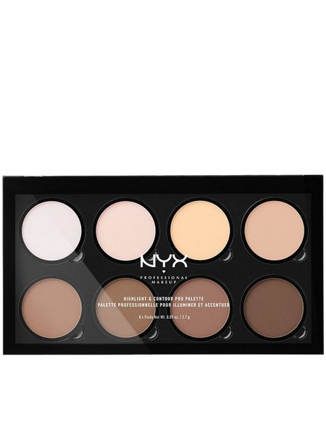 NYX Professional Makeup Highlight & Contour PRO Palette Contouring & strobing
