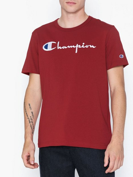 Champion Reverse Weave Crewneck T Shirt T shirts undertrøjer Red - herre