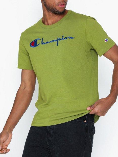 Champion Reverse Weave Crewneck T Shirt T shirts undertrøjer Green mand køb billigt
