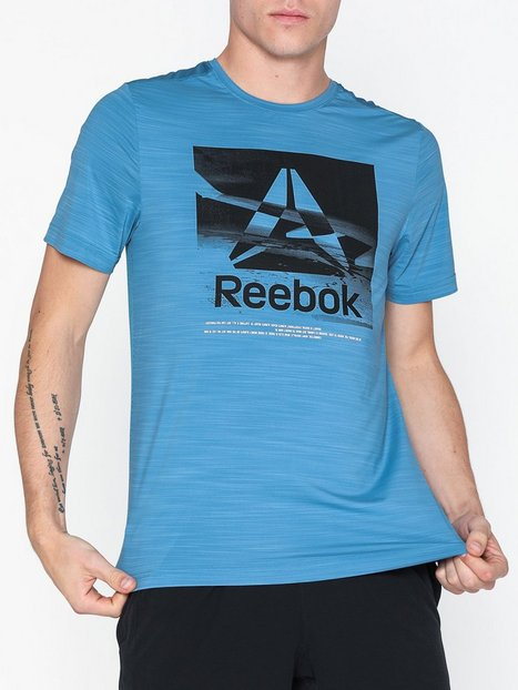 Reebok Performance Wor Activchill Trænings t shirts Blue - herre
