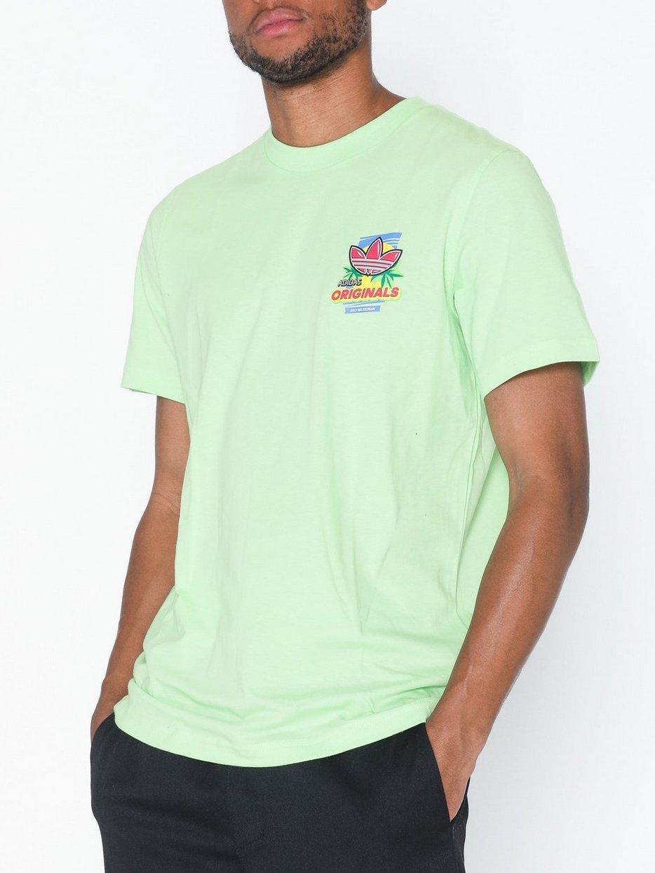 adidas Originals bodega t shirt with ice cream back print in green Green