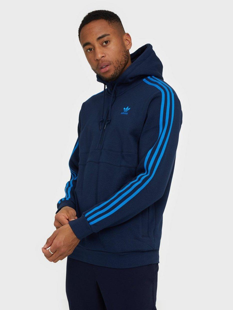 adidas 3 Stripes HZ hoodie blue