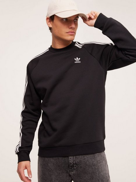 Adidas Originals 3-Stripes Crew Trøjer Black