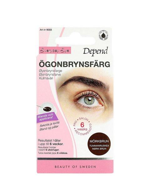 Depend Ögonbrynsfärg Øjenbryn Mørkebrun