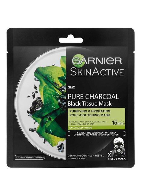 Garnier Charcoal Tissue Mask Black Algae Ansigtsmasker