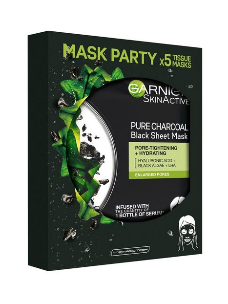 Garnier Pure Charcoal Tissue Masks 5 pack Ansigtsmasker
