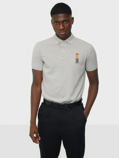 Se Polo Ralph Lauren Short Sleeve Polo Shirt Polotrøjer Grey ved NLY Man