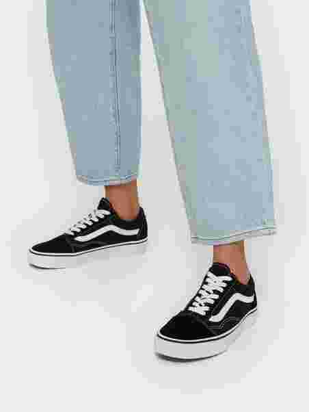 vans old skool black and white for women