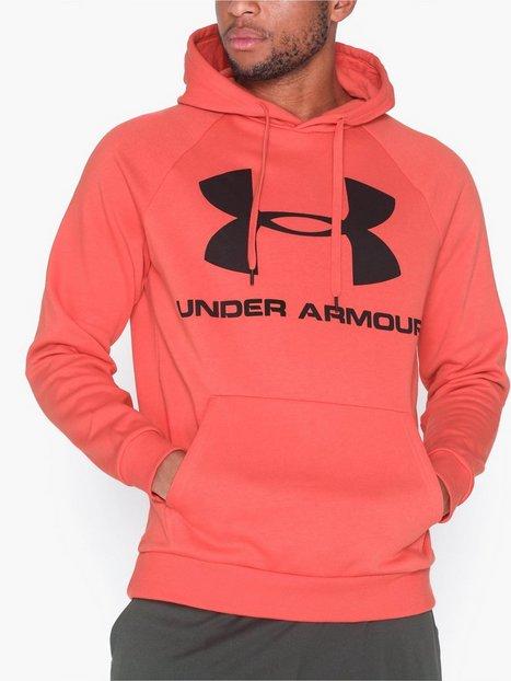 Under Armour Rival Fleece Logo Hoodie Træningstrøjer Red - herre