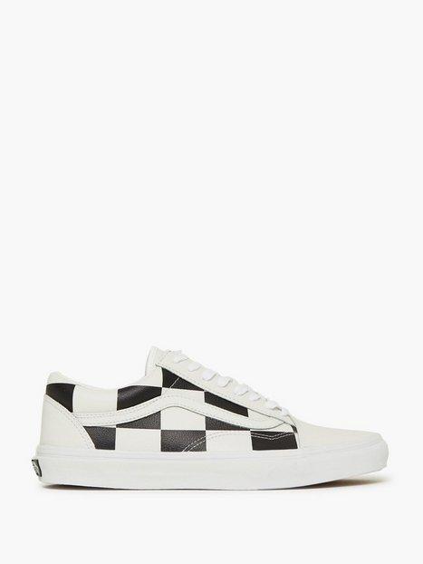 VANS UA Old Skool Sneakers White Black - herre