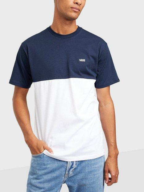 VANS Mn Colorblock Tee T-shirts & undertrøjer White/Blue