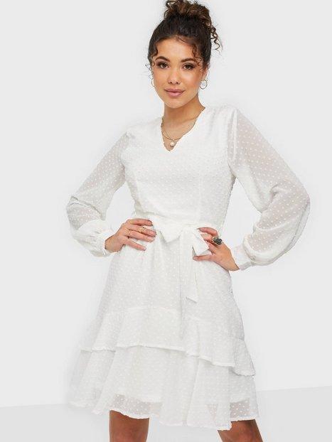 Sisters Point V-neck Dot Dress Skater kjoler