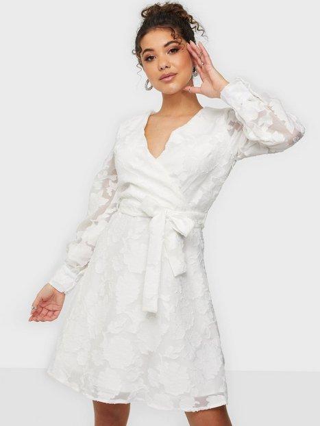 Sisters Point V-neck mini flower dress Skater kjoler