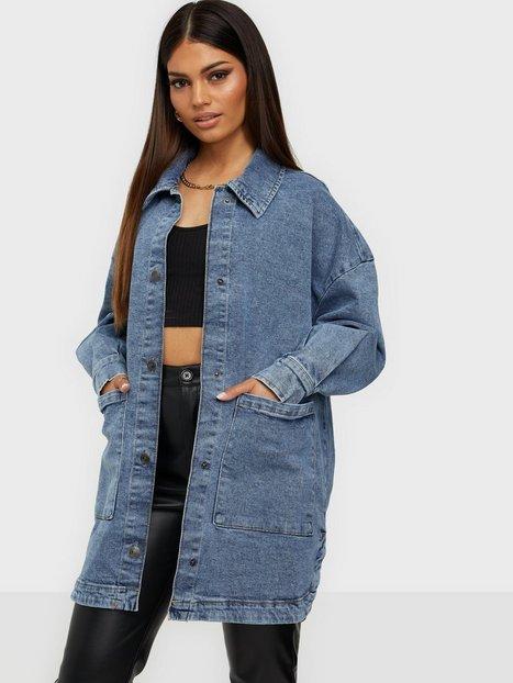 Sisters Point Otina Jacket skjortejakker Medium Blue