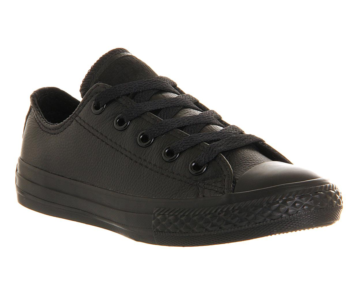 Converse All Star Ox Leather Kids Black
