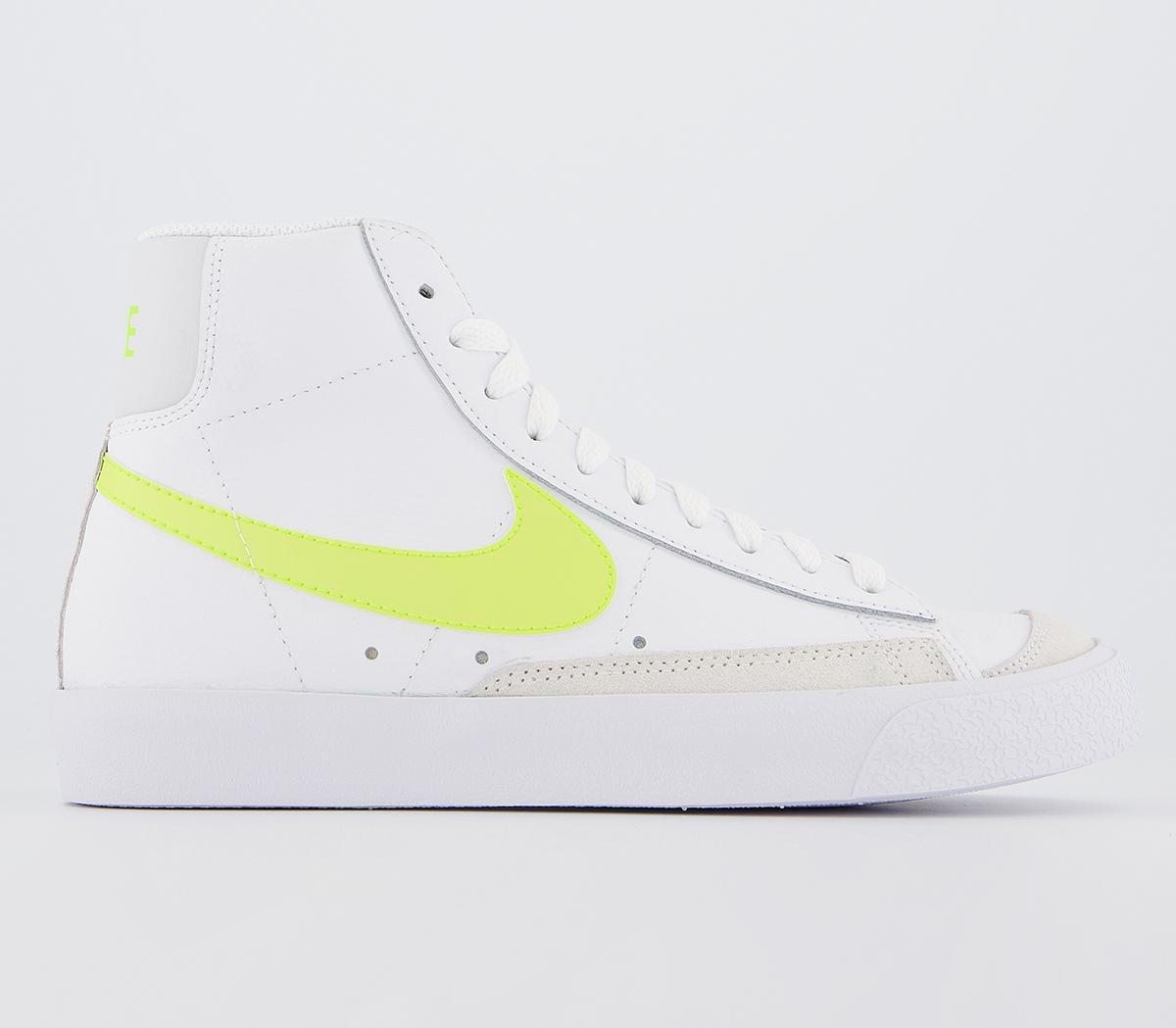 Nike Blazer Mid 77 Trainers White Lemon