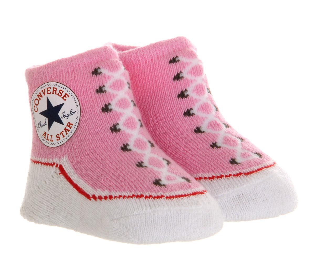 Converse Crib Socks Pink - Kids Trainers
