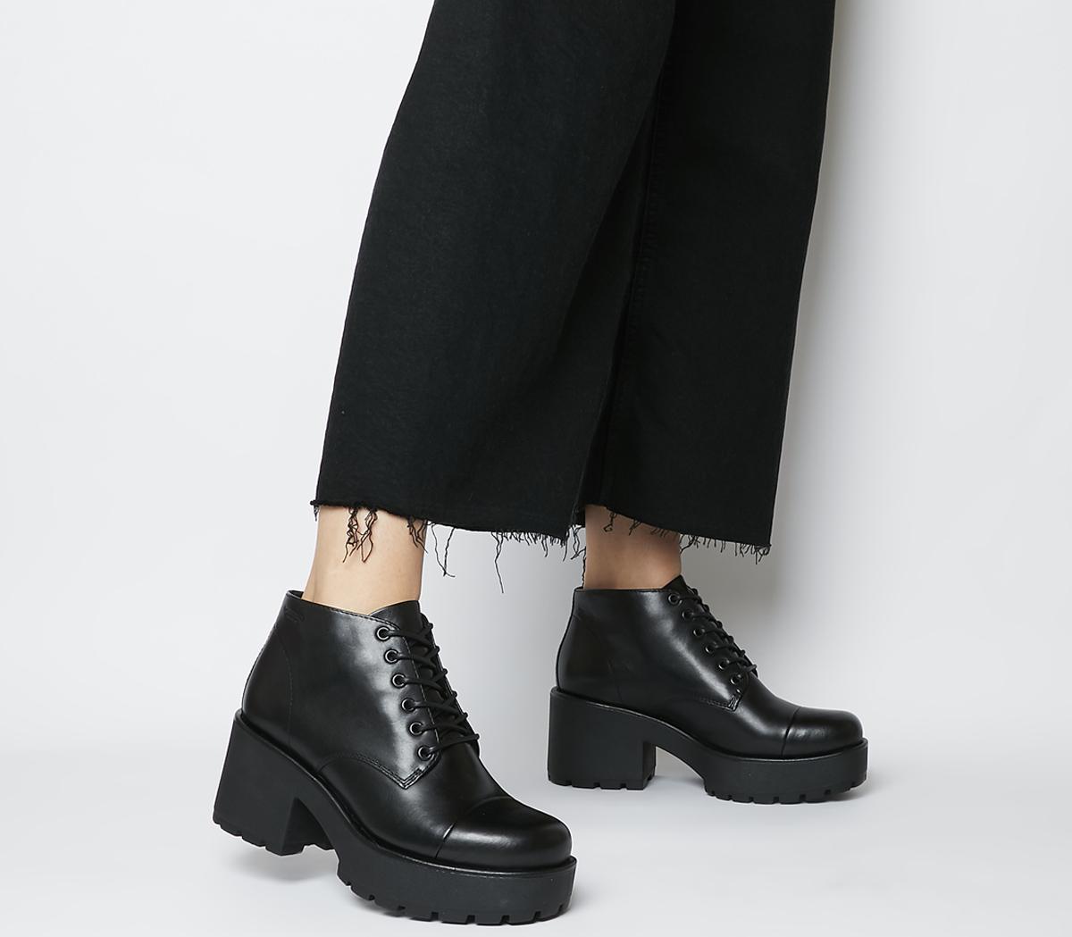 Vagabond Dioon Lace Up Boots Black