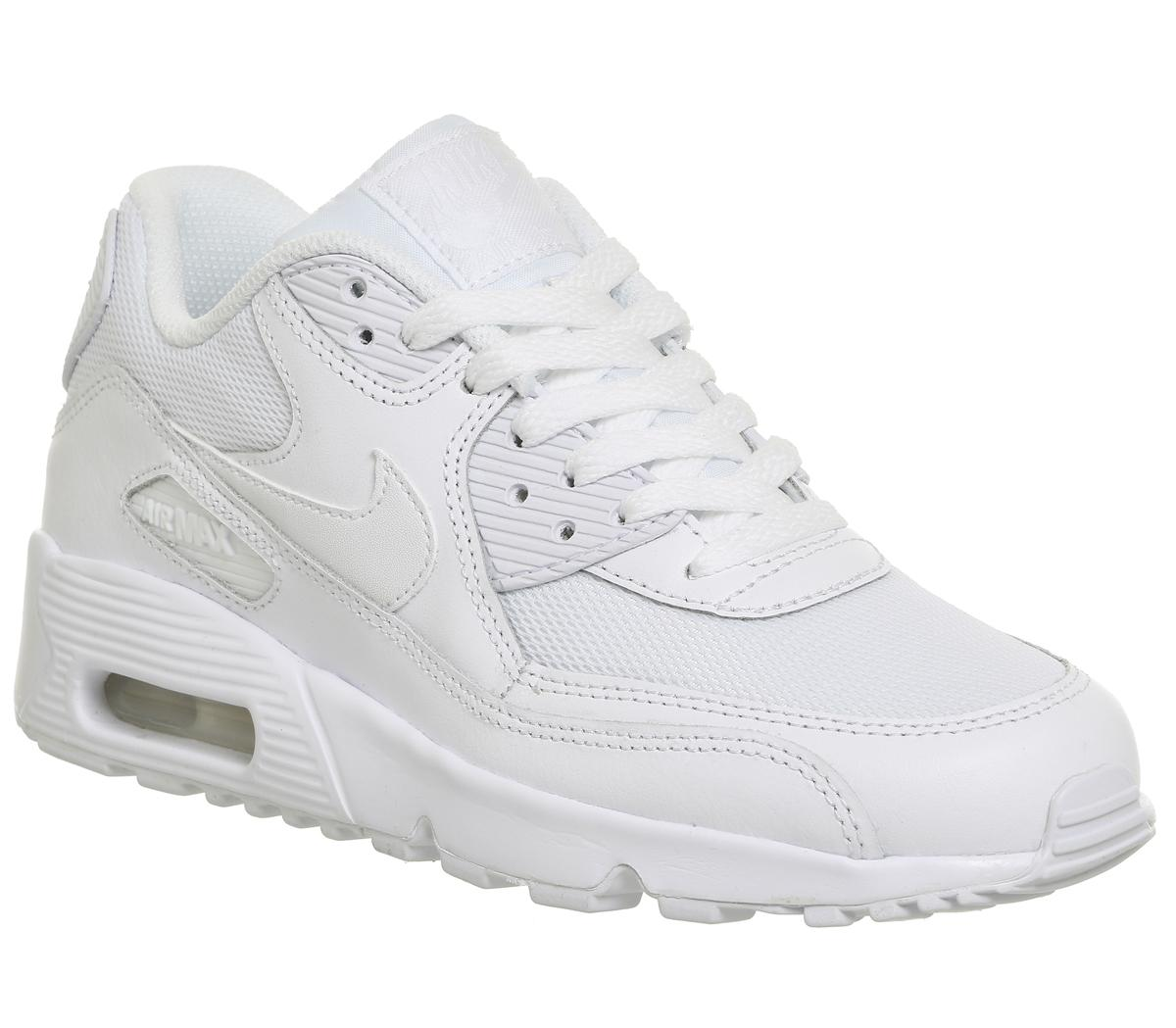 Nike Air Max 90 Trainers White Mono