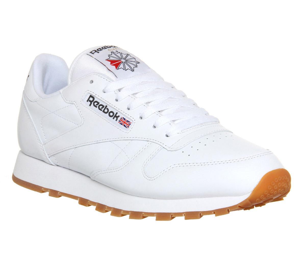 Reebok Cl Leather White Gum - Unisex Sports