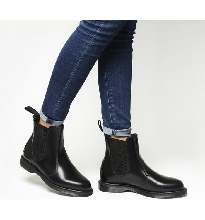 Dr Martens 2976 Quad Chelsea Boots Black Leather Ankle Boots