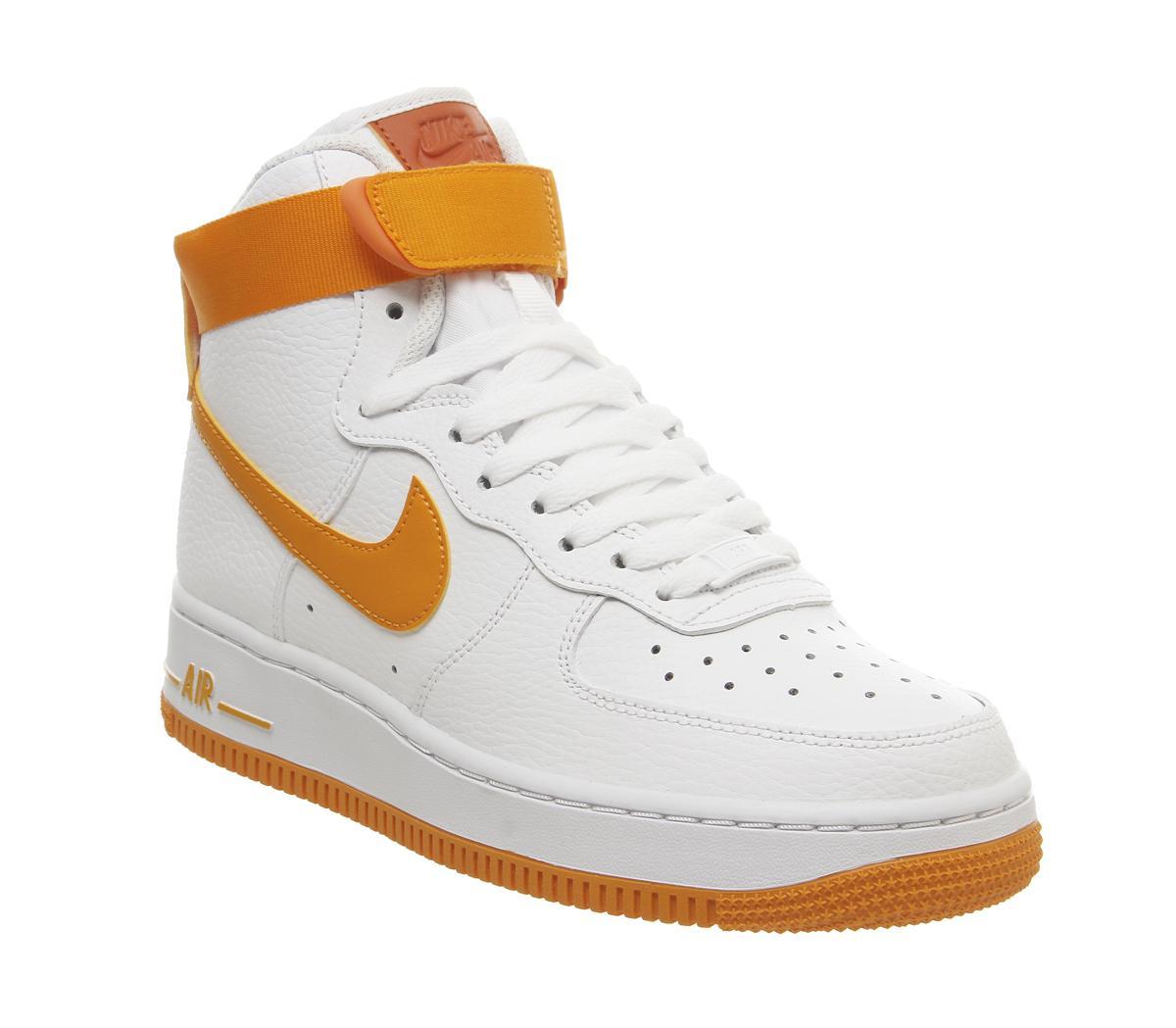 Nike Air Force 1 Hi White Orange Peel