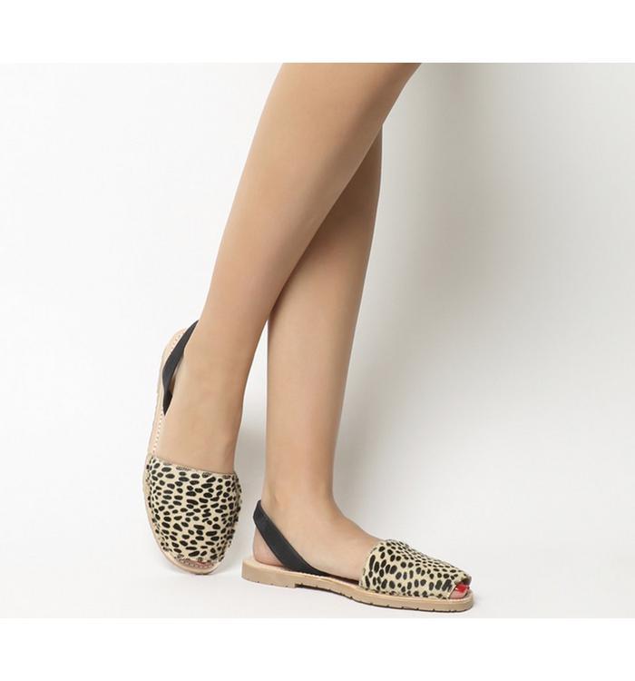 Solillas Solillas Sandal LEOPARD BLACK BACK STRAP