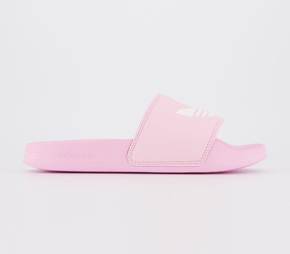 adidas Adilette Sliders Pink White Pink