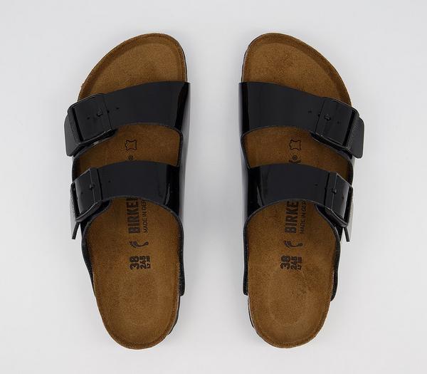 Birkenstock Arizona Two Strap Sandals Black Patent - Sandals hCvhrjD