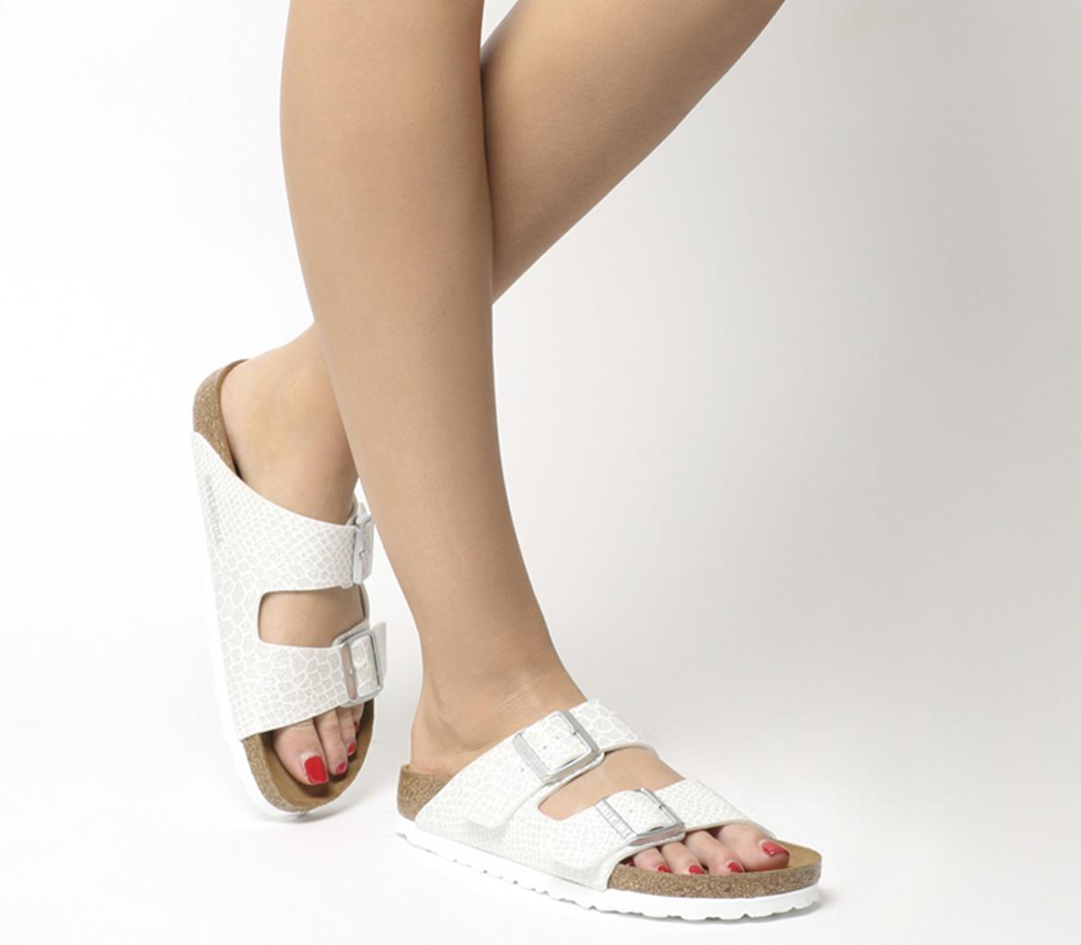 Strap Sandals Magic Snake White