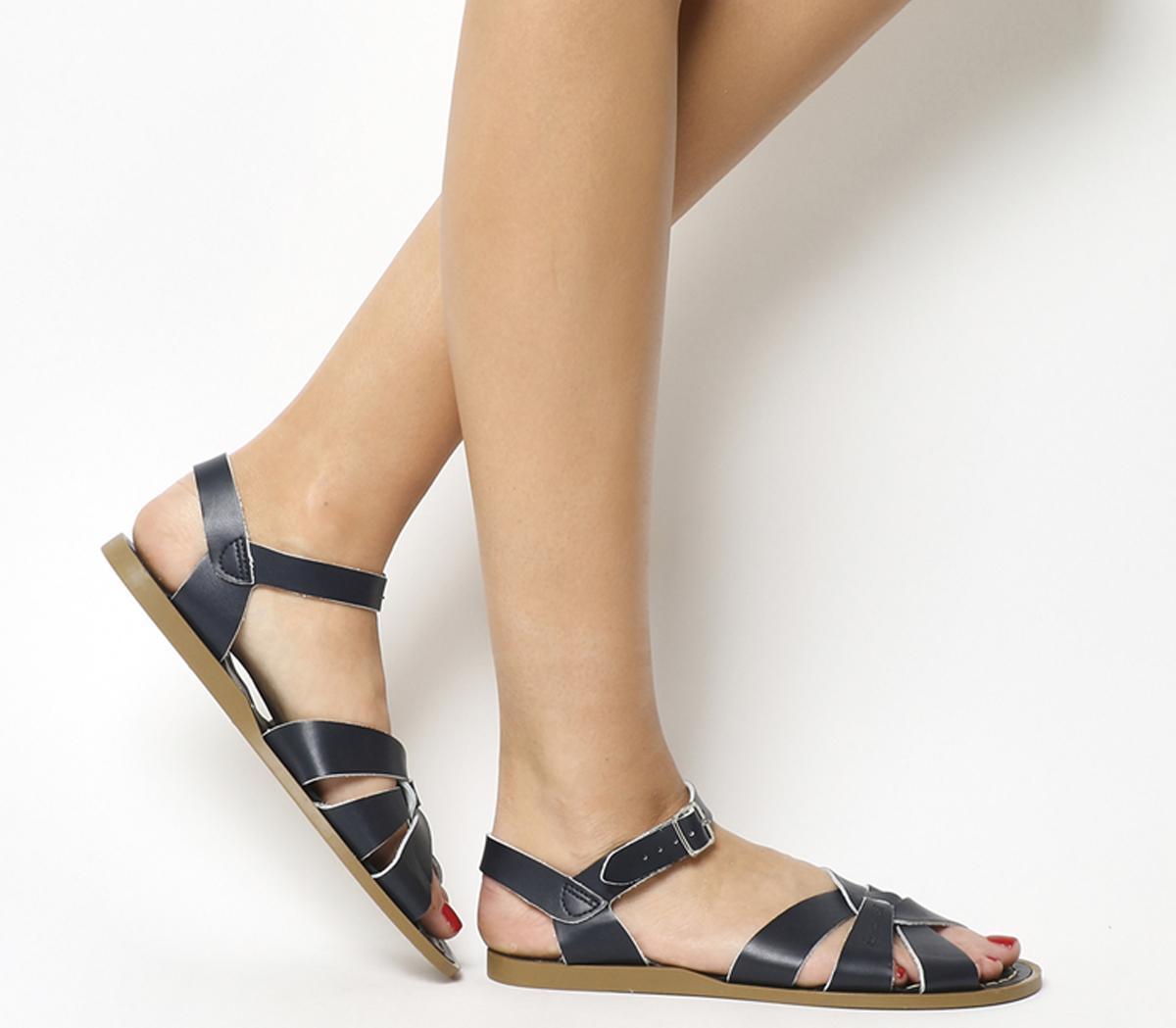 Original Sandals Navy Leather - Sandals