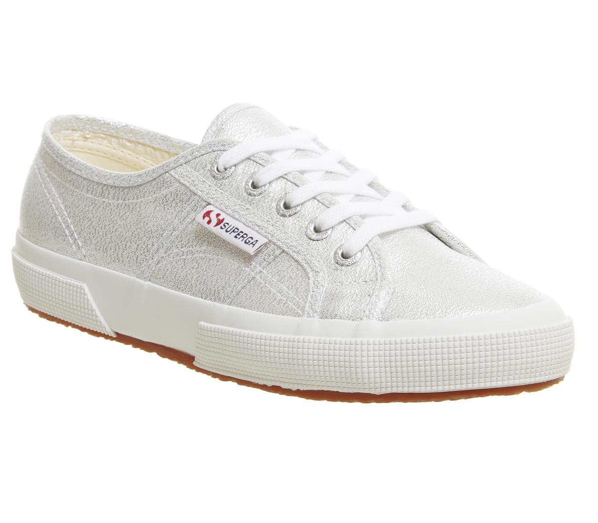 Superga 2750 Trainers Grey Silver