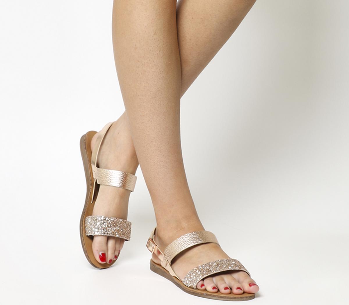 Office Honey Slingback Sandals Rose