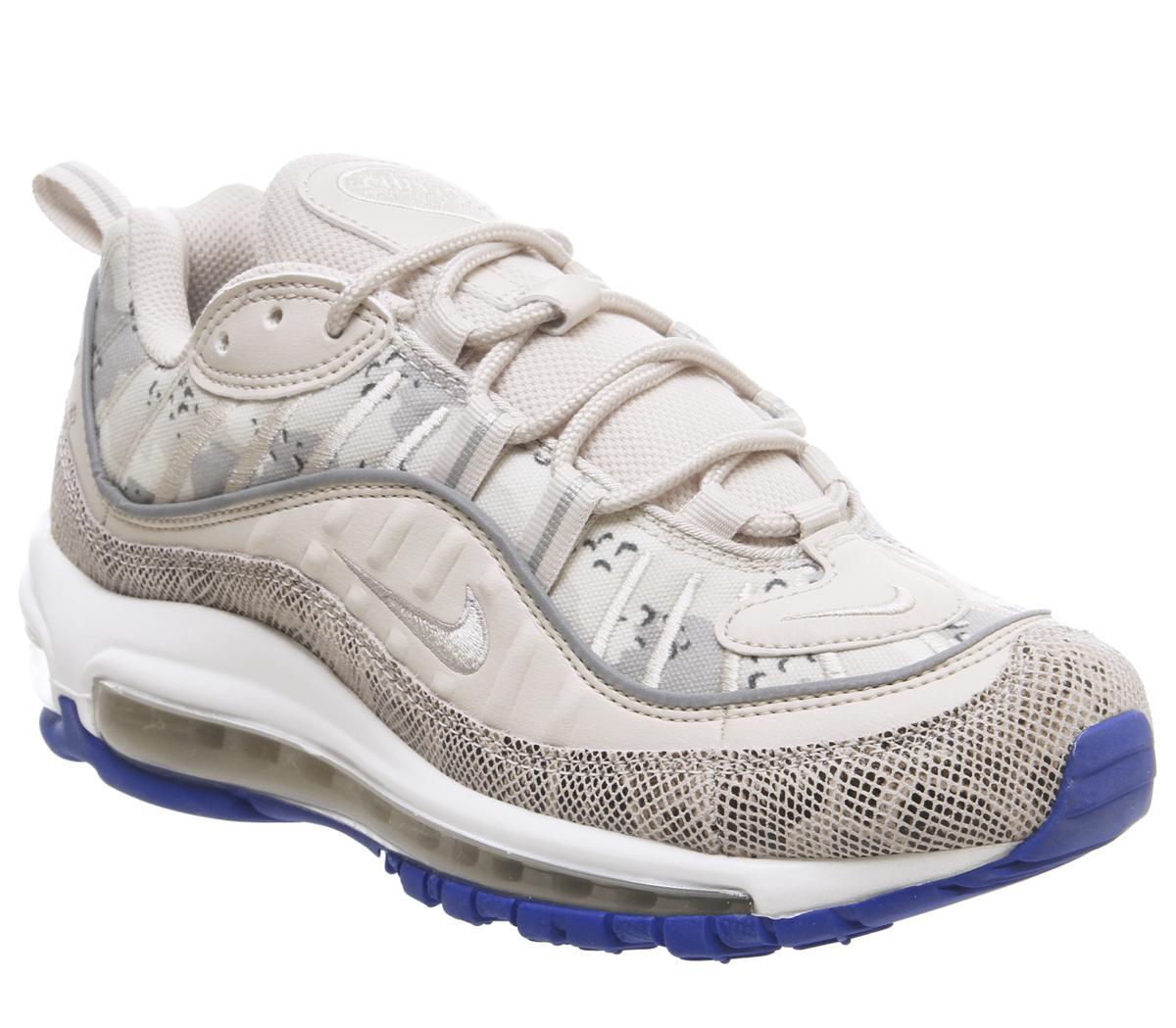 Practicar senderismo vino flotante  Nike Air Max 98 Trainers Orewood Brown Moon Particle Hyper Pink - Hers  trainers