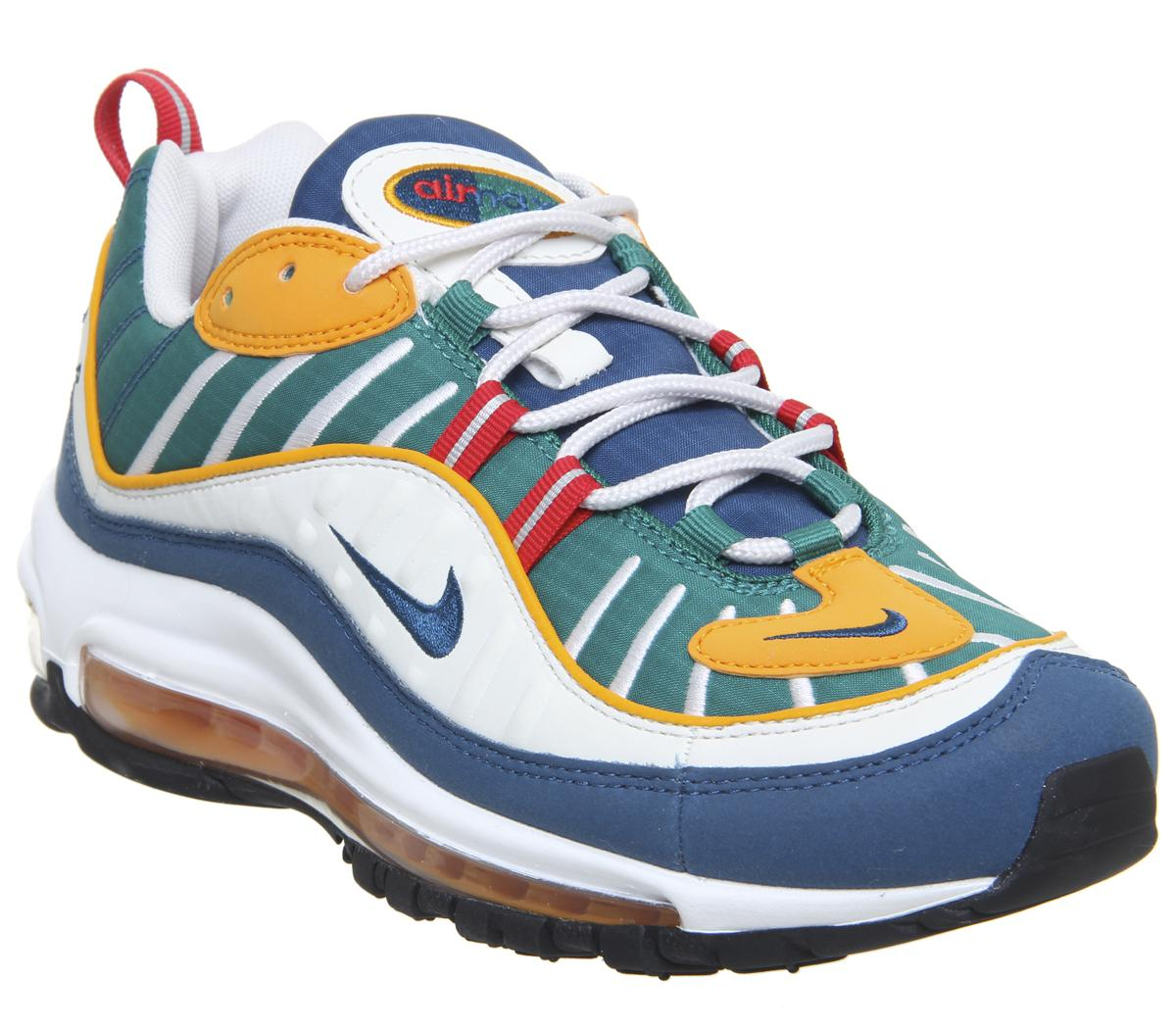 George Eliot excitación Capitán Brie  Nike Air Max 98 University Red Blue Force Orange Peel - His trainers