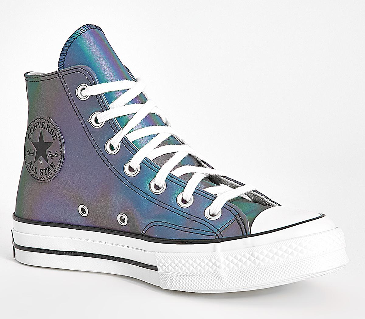 Converse Converse Hi Top Oil Slick Leather Off White