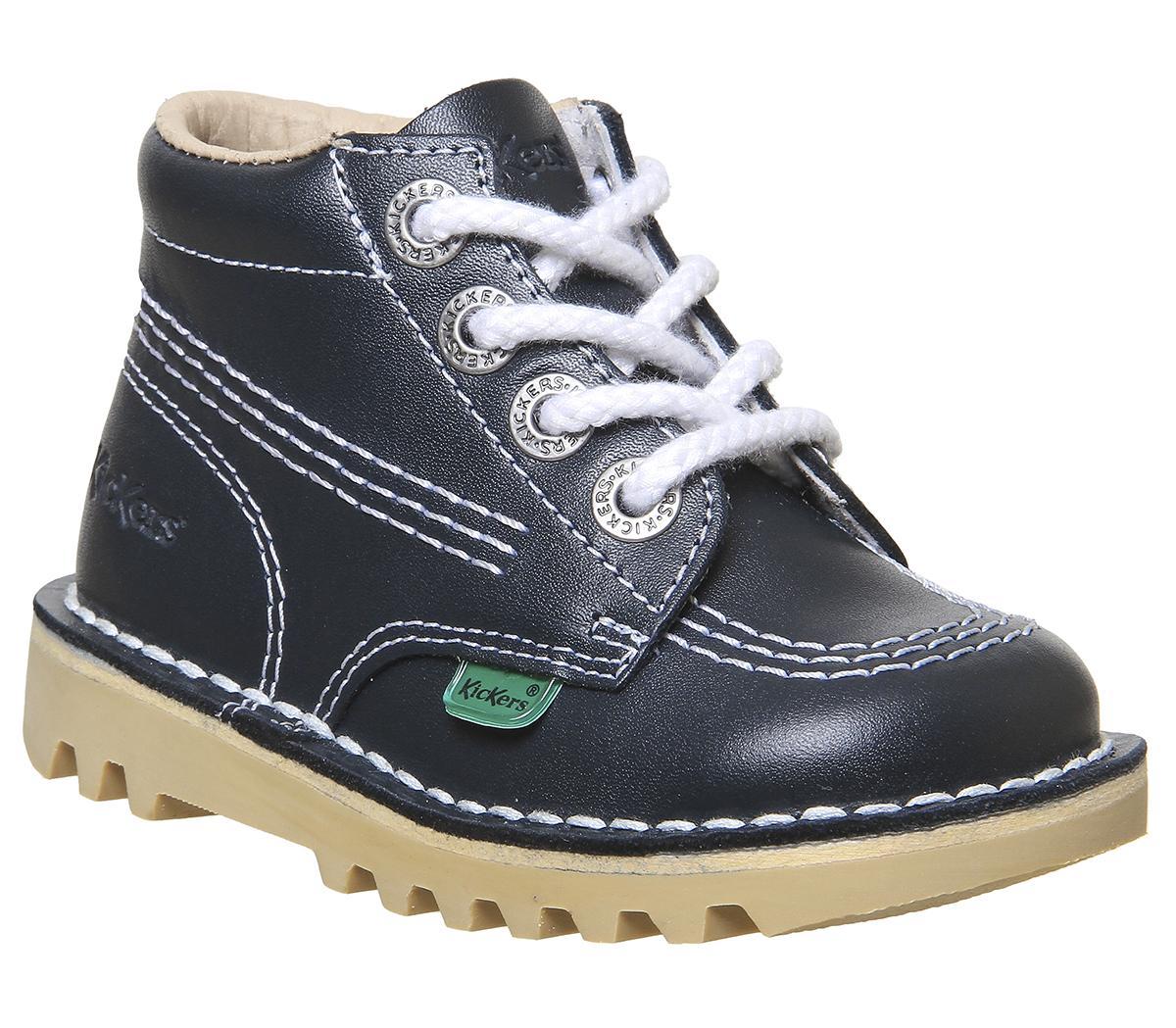 Kickers Kick Hi Infant Shoes Dark Blue